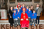 Sixth Class pupils from Killocrim N.S. who received their Confirmation in St. Mary's Church, Listowel pictured with Bishop Ray Browne, Canon Declan O'Connor, Catherine O'Driscoll (Principal) and Neil Keane Stack (Class Teacher).