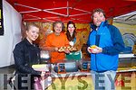 Enjoying the Tralee Chamber Alliance annual Food Festival in the Square on Saturday were Eimear Leahy and John O'Connor  with Maria Diggins and Carlo Luque of Foodie Fiesta
