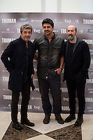 Argentinian actor Ricardo Darin, spanish director Cesc Gay and spanish actor Javier Camara during the presentation of the film &quot;Truman&quot; at NH Tepa&acute;s Palace in Madrid October 26, 2015. <br /> (ALTERPHOTOS/BorjaB.Hojas) /NortePhoto