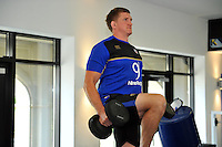 Stuart Hooper in the gym. Bath Rugby pre-season training on July 21, 2015 at Farleigh House in Bath, England. Photo by: Patrick Khachfe / Onside Images