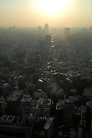 Tokyo cityscape in Shiodome district, Tokyo, Japan..16 Nov 2007