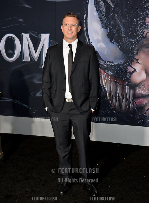 LOS ANGELES, CA. October 01, 2018: Ruben Fleischer at the world premiere for &quot;Venom&quot; at the Regency Village Theatre.<br /> Picture: Paul Smith/Featureflash