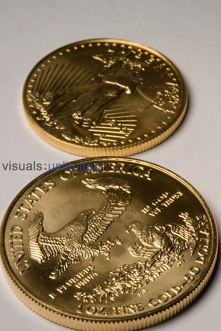 United States Gold bullion coins.