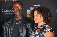"Don Cheadle & Bridgid Coulter at the world premiere for ""Black Panther"" at the Dolby Theatre, Hollywood, USA 29 Jan. 2018<br /> Picture: Paul Smith/Featureflash/SilverHub 0208 004 5359 sales@silverhubmedia.com"