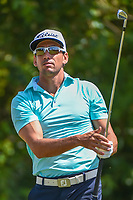 Rafael Cabrera Bello (ESP) watches his tee shot on 3 during Round 1 of the Zurich Classic of New Orl, TPC Louisiana, Avondale, Louisiana, USA. 4/26/2018.<br /> Picture: Golffile | Ken Murray<br /> <br /> <br /> All photo usage must carry mandatory copyright credit (&copy; Golffile | Ken Murray)