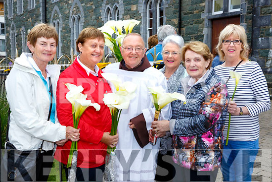 Bridie Brosnan, Joan Buckley, Br Sean, Anne O'Shea, Mai Bergen and Noreen Breen at the Blessing of the Lily's in the Friary Killarney on Tuesday