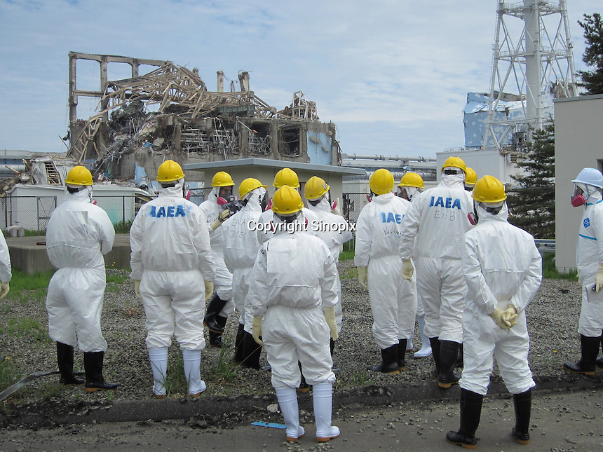 The stricken Fukushima Daiichi Nuclear Power Plant in Fukushima Prefecture, Japan. The plant was severely damaged after the March 11th earthquake and tsunami and continues to leak radiation.  .27 May 2011....