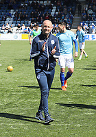 Queen of the South Manager Allan Johnston before the SPFL Ladbrokes Championship Play Off semi final match between Queen of the South and Montrose at Palmerston Park, Dumfries on 11.5.19.