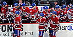 23 January 2010: The Montreal Canadiens celebrate the first goal of the game in the first period against the New York Rangers at the Bell Centre in Montreal, Quebec, Canada. The Canadiens shut out the Rangers 6-0. Mandatory Credit: Ed Wolfstein Photo