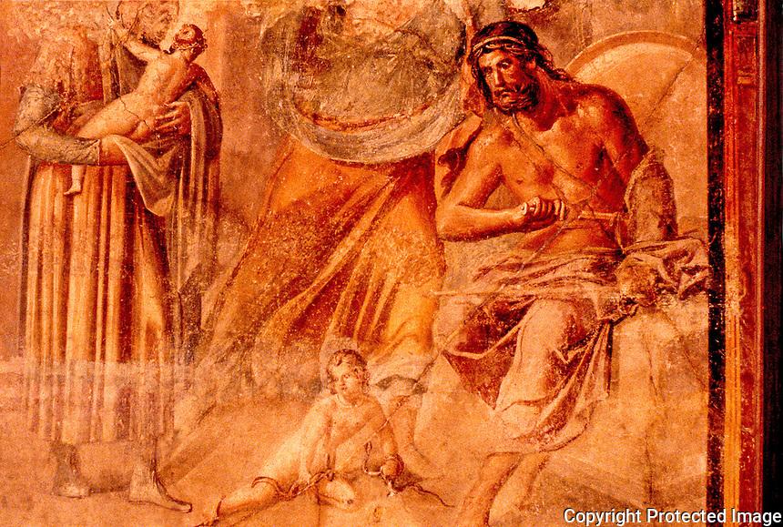 Roman Art:  Fresco--Pompeiian.  National Museum, Naples.