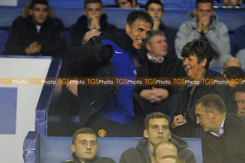 Phil Neville was in the crowd - Everton Under-21 vs Manchester United Under-21 - Barclays Under-21 Premier League Football at Goodison Park, Liverpool - 21/10/13 - MANDATORY CREDIT: Greig Bertram/TGSPHOTO - Self billing applies where appropriate - 0845 094 6026 - contact@tgsphoto.co.uk - NO UNPAID USE