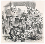 Irish emigrants leaving for a  new life in America         Date: 1859