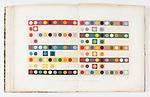 Trait&eacute; th&eacute;orique et pratique de l'impression des tissus / / par J. Persoz; Persoz, J. (Jean), 1805-1868; 4 v. : diagrs., patterns ; 22 cm. + 1 atlas (20 leaves of plates : ill. (partly double, partly col.) ; 32 cm.); Smithsonian Libraries<br /> <br /> Photo: Matt Flynn &copy; Smithsonian Institution