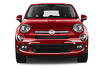 Car photography straight front view of a 2016 Fiat 500X-City-Look Pop-Star 5 Door Suv Front View