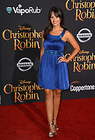 Paula Garces at the world premiere of Disney's &quot;Christopher Robin&quot; at Walt Disney Studios, Burbank, USA 30 July 2018<br /> Picture: Paul Smith/Featureflash/SilverHub 0208 004 5359 sales@silverhubmedia.com