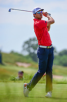 Rafael Cabrera Bello (ESP) watches his tee shot on 13 during Friday's round 2 of the 117th U.S. Open, at Erin Hills, Erin, Wisconsin. 6/16/2017.<br /> Picture: Golffile | Ken Murray<br /> <br /> <br /> All photo usage must carry mandatory copyright credit (&copy; Golffile | Ken Murray)
