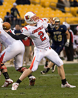 November 08, 2008: Louisville quarterback Matt Simms. The Pitt Panthers defeated the Louisville Cardinals 41-7 on November 08, 2008 at Heinz Field, Pittsburgh, Pennsylvania.