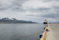 Navegación canal de Beagle. Ushuaia, tierra del Fuego, Patagonia, Argentina