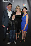 "WEST HOLLYWOOD, CA. - February 22: Peter Krause, Max Burkholder, Monica Potter and Sarah Ramos attend the Los Angeles premiere of ""Parenthood"" at the Directors Guild Theatre on February 22, 2010 in West Hollywood, California."