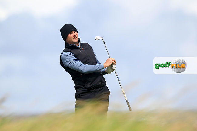 Robert Cannon (Balbriggan) during the last 16 of the South of Ireland from Lahinch golf club, Lahinch, Co. Clare, Ireland. <br /> Picture: Fran Caffrey / Golffile