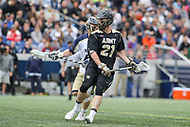 Annapolis, MD - April 15, 2017: Army Black Knights Ted Glesener (21) attempts a shot during game between Army vs Navy at  Navy-Marine Corps Memorial Stadium in Annapolis, MD.   (Photo by Elliott Brown/Media Images International)
