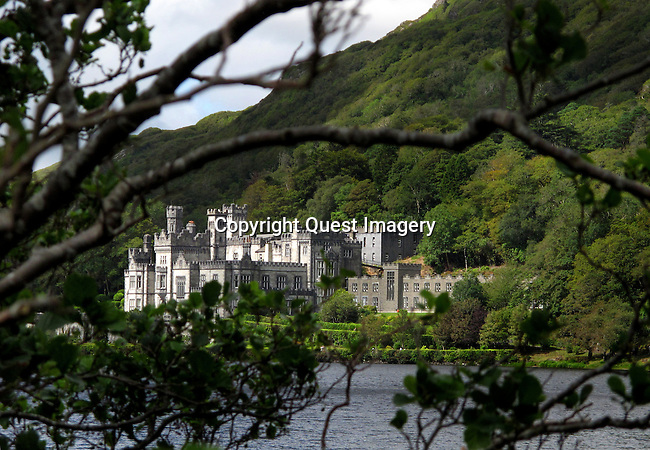 Kylemore Abbey is a Benedictine monastery founded in 1920 on the grounds of Kylemore Castle, in Connemara, County Galway, Ireland. The abbey was founded for Benedictine Nuns who fled Belgium in World War I. <br />