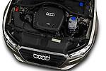 High angle engine detail of a 2014 Audi A6 AVUS 4 Door Sedan 2WD