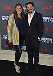 "Jaames Vanderbilt - writer producer and wife Amber Vanderbielt 098 arrives at the LA Premiere Of Netflix's ""Murder Mystery"" at Regency Village Theatre on June 10, 2019 in Westwood, California"