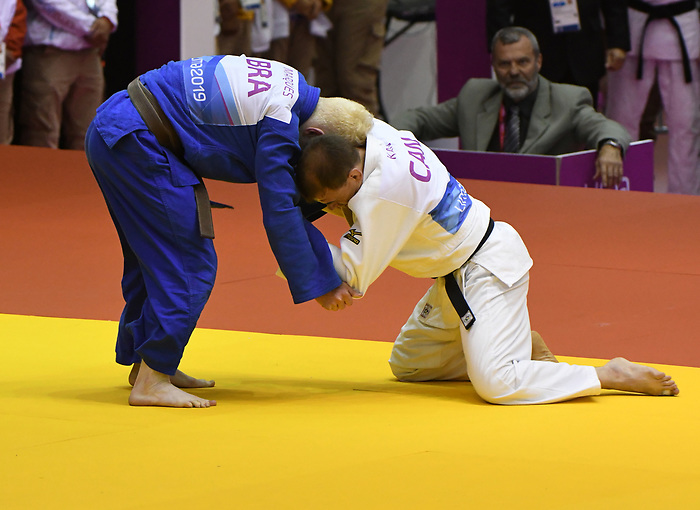 Justin Karn competes in Para Judo at the 2019 ParaPan American Games in Lima, Peru-24aug2019-Photo Scott Grant