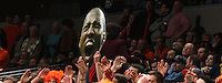 Virginia forward Akil Mitchell appears to scream above the crowd during the game Saturday in Charlottesville, VA. Virginia won 65-45. Photo/The Daily Progress/Andrew Shurtleff