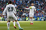 Real Madrid´s Sergio Ramos during 2015/16 La Liga match between Real Madrid and Celta de Vigo at Santiago Bernabeu stadium in Madrid, Spain. March 05, 2016. (ALTERPHOTOS/Victor Blanco)