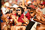 OKLAHOMA CITY, OK - JUNE 04: Florida State Seminoles fans cheer on their team against the Washington Huskies during the Division I Women's Softball Championship held at USA Softball Hall of Fame Stadium - OGE Energy Field on June 4, 2018 in Oklahoma City, Oklahoma. (Photo by Shane Bevel/NCAA Photos via Getty Images)