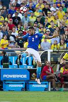 Action photo during the match Brazil vs Ecuador, Corresponding Group -B- America Cup Centenary 2016, at Rose Bowl Stadium<br /> <br /> Foto de accion durante el partido Brasil vs Ecuador, Correspondiante al Grupo -B-  de la Copa America Centenario USA 2016 en el Estadio Rose Bowl, en la foto: Dani Alves de Brasil<br /> <br /> <br /> 04/06/2016/MEXSPORT/Victor Posadas.