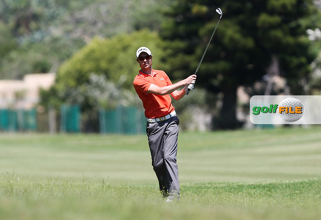 Rhys Davies (WAL) plays second shot to the 14th during Round Three of The Africa Open 2014 at the East London Golf Club, Eastern Cape, South Africa. Picture:  David Lloyd / www.golffile.ie