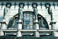 Otto Wagner: Church AM Steinhof, Vienna. Frontal elevation detail.