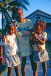 Young girls, Cayman Brac, Cayman Islands,