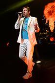 MIAMI BEACH, FL - FEBRUARY 12: Simon Le Bon of Duran Duran performs at the Fillmore on February 12, 2019 in Miami Beach, Florida. Credit Larry Marano © 2019