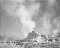 """: """"Castle Geyser Cove, Yellowstone National Park,"""" Wyoming;<br /> From the series Ansel Adams Photographs of National Parks and Monuments, compiled 1941 - 1942, documenting the period ca. 1933 - 1942.<br /> Date <br /> <br /> 1941"""