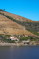 douro river and steep vineyards quinta dos murcas douro portugal