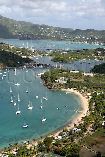 4 May 2007: The view from Shirley Heights during Stanford Antigua Sailing Week 2007 Photo: Ingrid Abery/action plus...sailing yachting 070504 west indies beach scenes travel