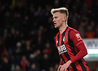27th January 2020; Vitality Stadium, Bournemouth, Dorset, England; English FA Cup Football, Bournemouth Athletic versus Arsenal; Sam Surridge of Bournemouth celebrates after scoring in extra time for 1-2