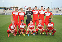 Boyds MD - April 19, 2014: Washington Spirit Team Photo. The Washington Spirit defeated the FC Kansas City 3-1 during a regular game of the 2014 season of the National Women's Soccer League at the Maryland SoccerPlex.