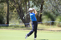 Gareth Paddison (NZL) on the 18th during Round 1 of the ISPS HANDA Perth International at the Lake Karrinyup Country Club on Thursday 23rd October 2014.<br /> Picture:  Thos Caffrey / www.golffile.ie