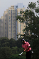 Thongchai Jaidee (THA) on the 4th green during Round 2 of the UBS Hong Kong Open 2012, Hong Kong Golf Club, Fanling, Hong Kong. 16/11/12...(Photo Jenny Matthews/www.golffile.ie)