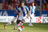 22.04.2012 MADRID, SPAIN - La Liga 11/12 match played between At. Madrid vs R.C.D. Espanyol (3-1) at Vicente Calderon stadium. the picture show Christian Ndri Romaric (Midfielder of Espanyol)