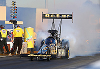 Jul. 26, 2013; Sonoma, CA, USA: NHRA top fuel dragster driver Khalid Albalooshi during qualifying for the Sonoma Nationals at Sonoma Raceway. Mandatory Credit: Mark J. Rebilas-