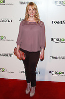 LOS ANGELES, CA, USA - SEPTEMBER 15: Melissa Rauch arrives at the Los Angeles Premiere Of Amazon Studios' 'Transparent' held at the Ace Hotel on September 15, 2014 in Los Angeles, California, United States. (Photo by David Acosta/Celebrity Monitor)