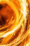 Fire dancing display at beach resort in Fiji