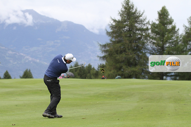 David Howell (ENG) on the 10th on Day 2 of the Omega European Masters 2012, Golf Club Crans-Sur-Sierre, Crans Montana, Switzerland, 31/8/12...(Photo Jenny Matthews/www.golffile.ie)