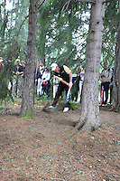 Lee Westwood (ENG) on the 5th during the final day of the Omega European Masters, Crans-Sur-Sierre, Crans Montana, Switzerland.4/9/11.Picture: Golffile/Fran Caffrey..